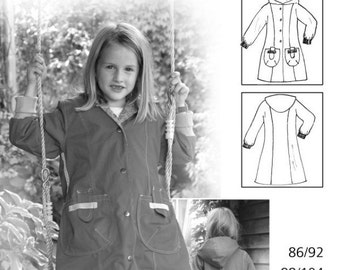 FARBENMIX Euro German sewing Pattern FEE Coat Girls Sz 1/12 Ready to Ship