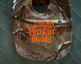 Daddys Huntin Buddy Realtree Camo Baby Bib