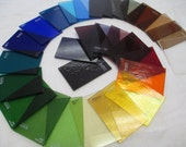 AC58 Lot Colored Glass Samples Assorted Colors