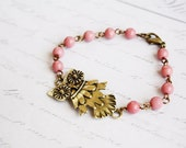 Owl Bracelet, Shabby Chic, Bohemian, Vintage, Romantic Jewelry - gift for her under 20 usd