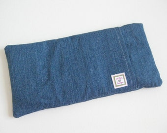 Heating Pad (Microwavable)- DENIM // Buckwheat and Rice Heating Pad // Cold Pack // Removable Cover