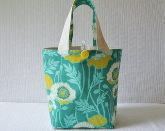 Lunch Bag - Pristine Poppy in Teal