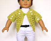 American Girl 18 inch Doll Short Sleeve Sweater Crochet Pattern PDF