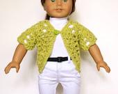 American Girl 18 inch Doll Short Sleeve Sweater Crochet Pattern PDF