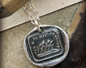 This is my Destiny Wax Seal Necklace - Like a Reed in the Wind - Adaptability and Perseverance - Go with the flow - IS230