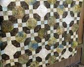 Mosaic tile Batik Quilt Blanket