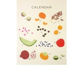Seasonal Fruits of California Lithograph / Plant Planet