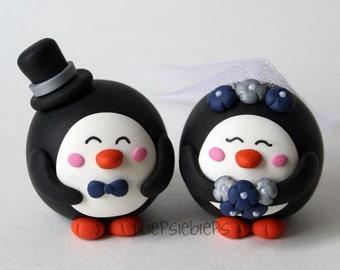 Customise Penguin Wedding Cake Topper