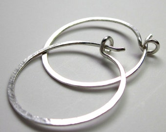 simple plain sterling hoops eco friendly