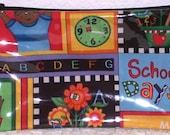 Handmade Zipper Pencil School Pouch for Student or Teacher