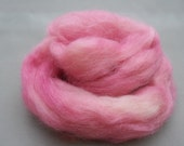 Wensleydale roving -  Pinks -  0.6 oz for spinning or felting