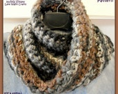 Instant Etsy Download PATTERN - FENTIN Moebius Cowl - Unisex Free Spirited Cozy Chunky Crochet Pattern