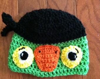Skully Parrot Beanie Pirate Parrot Beanie--cute costume idea-photo prop-all sizes newborn through adult