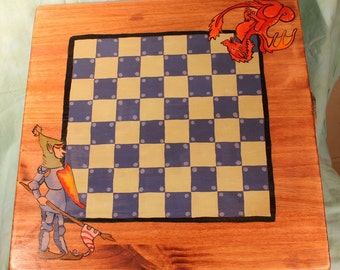Knights and Dragon Chess/checkers board