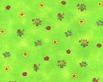 Zippy Jungle Floral in Green by Sue Zipkin Last 45 Inches