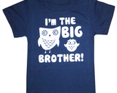 Kids I'm The BIG BROTHER T-shirt - Navy
