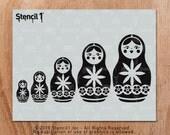 Nesting Dolls Stencil- Reusable Craft & DIY Stencils- S1_01_130 -8.5x11- By Stencil1