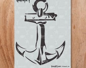 Anchor Stencil- Reusable Craft & DIY Stencils- S1_01_101 -8.5x11- By Stencil1