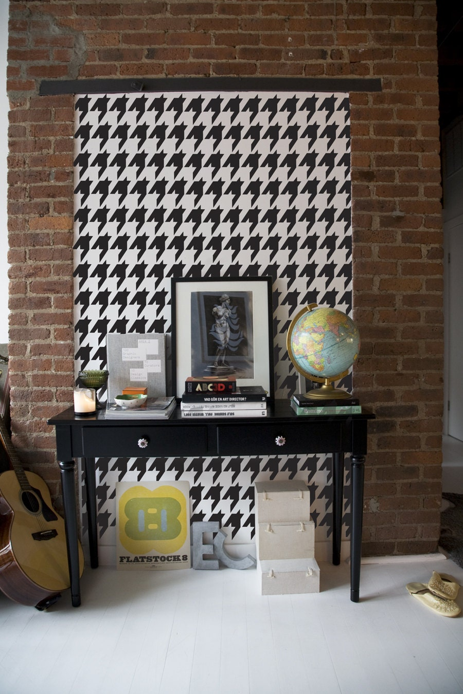 Houndstooth wall stencil gallery home wall decoration ideas houndstooth repeat wall stencil reusable craft diy stencils sold by stencil1 amipublicfo gallery amipublicfo Image collections