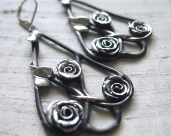 The Rose Bower Earrings in Sterling Silver