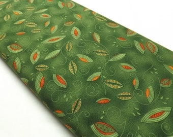 Spiced Tea 80663 778 Foliage Green Botanical Cotton Quilting and Sewing Fabrics By The Metre