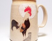 Colorful Rooster Pottery Coffee Mega Mug Limited Series 96 (microwave safe) 24 oz