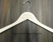 Bride Dress Hangers Engraved Monogram Etsy Bridal Hangers No Wire Wedding Photo Props