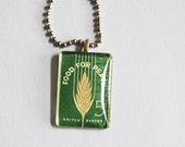 Food for Peace - Vintage Postage Stamp Pendant