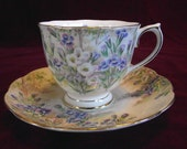 Royal Albert Fringed Gentian Cup and Saucer, Vintage, PM576