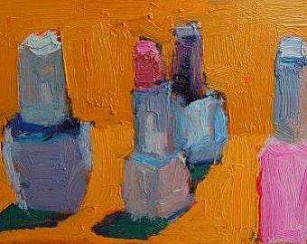 Nail Polish, Still Life Painting,