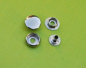 FREE SHIPPING--20 sets of 15mm Fastener Metal Snap Buttons in Silver/Nickel