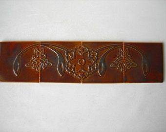 Handmade Ceramic Tiles Set of 4
