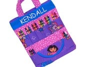 DORA THE EXPLORER - Art Travel Tote - Personalized! - (Includes All Supplies Shown)