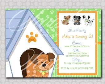 Puppy Adoption Party Birthday Invitation - Digital Printable Birthday 5x7 Invite - puppy pawty