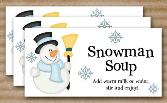 snowman-soup-gift-tag Images - Frompo - 1