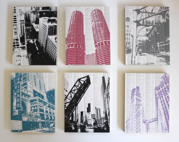 LAST CHANCE SALE - Chicago Artwork Set of 6