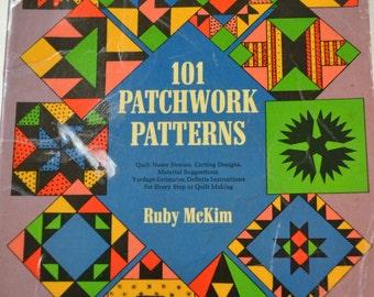 Vintage Quilting Book 101 Patchwork Patterns Ruby McKim