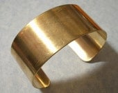 Unfinished Raw Brass Cuff Bracelet Blank 1.125 Inches Wide Great for Altered Art and Image Transfer Projects