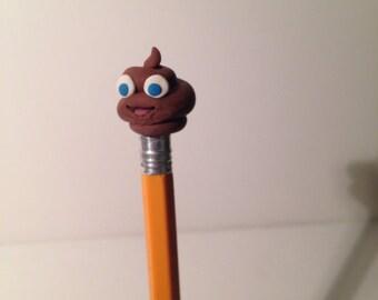 Smiley Poop Pencil Topper Eraser