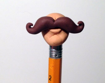 Mustache Pencil Topper Eraser