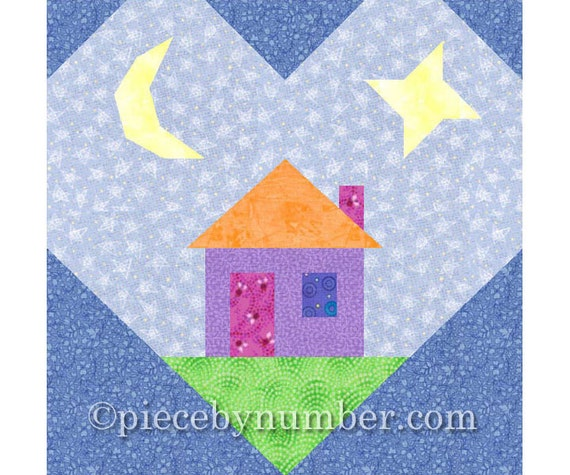 Heart And Home Quilt Block Paper Piecing Quilt Patterns