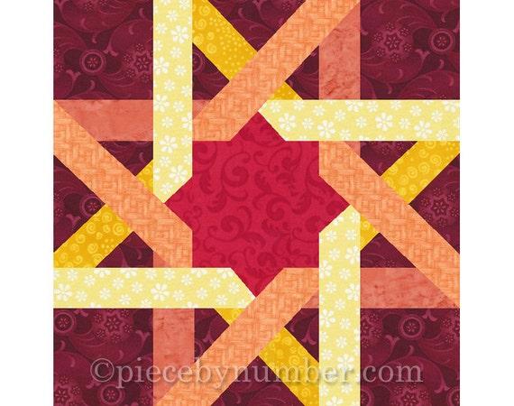 Moorish Ribbon Star Quilt Block Paper Pieced Quilt Patterns