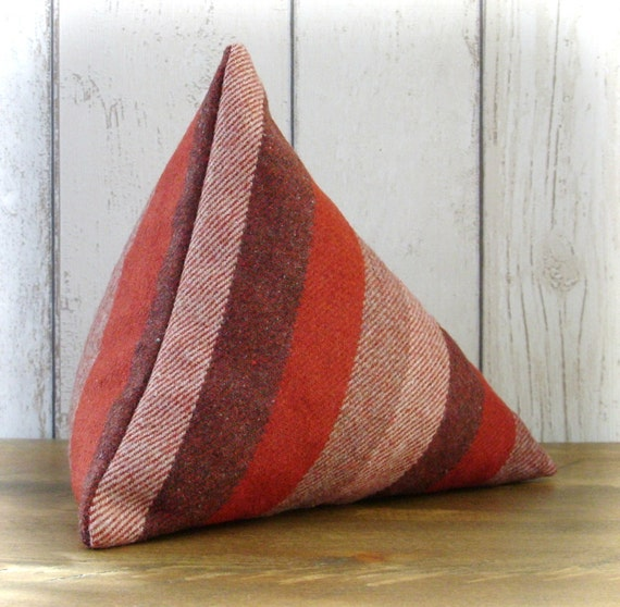 Red Striped Triangular Pyramid Door Stop