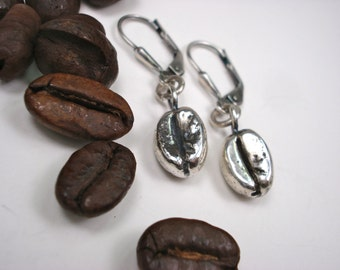 Sterling Silver, Coffee Bean, Earring