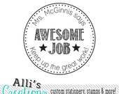 Custom Teacher Stamp - Self inking Teacher Stamp Awesome Great Job
