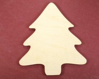 Christmas Tree Shape Unfinished Wood Laser Cut Shapes Crafts Variety of Sizes