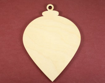 Christmas Classic Plumb Bob Ornament Shape Unfinished Wood Laser Cut Shapes Crafts Variety of Sizes