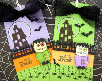 HALLOWEEN MONSTER TAGS
