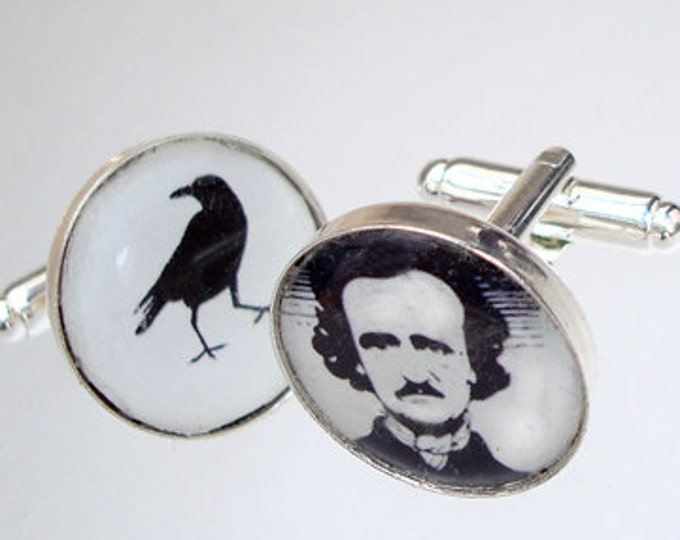 Groomsmen / Poe and Raven / Custom image cufflinks