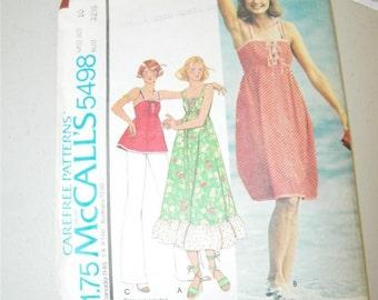 Vintage McCall's 5498 Ladies Dress Top Pattern 8014 Size 10 McCalls